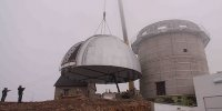 JST/T250 telescope dome lifting works